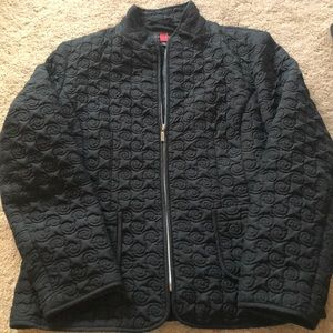 Gallery black quilted jacket size XL
